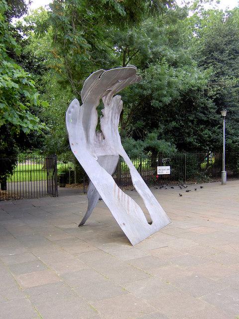 Sculpture at Lincoln Inn Fields.