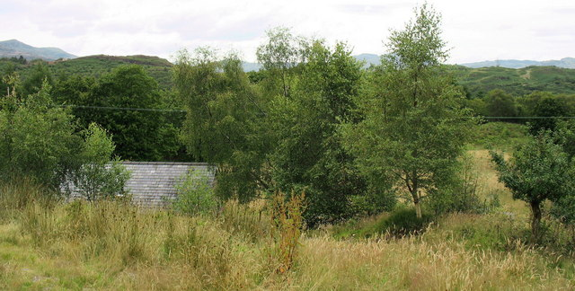The actual Cae'n y coed and the roof of Cae'n y coed isaf