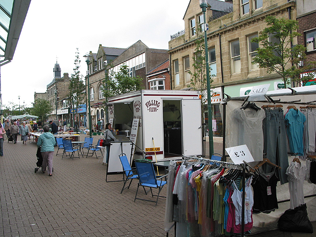 Market stalls in Middle Street