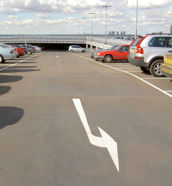 Level 6 of rail passengers only car park.