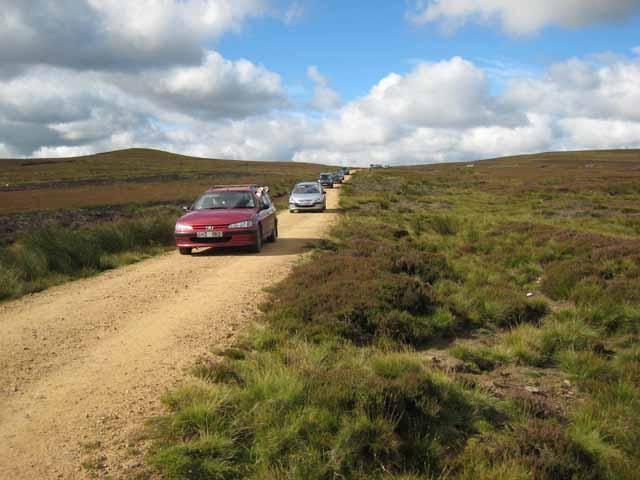 Cars invade Bollihope Moor