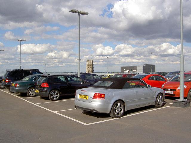 Roof top car park.