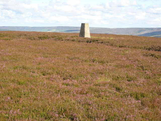 Trig pillar on Five Pikes