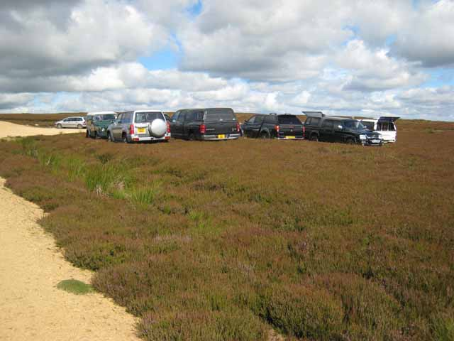 Impromptu car park on Bollihope Moor