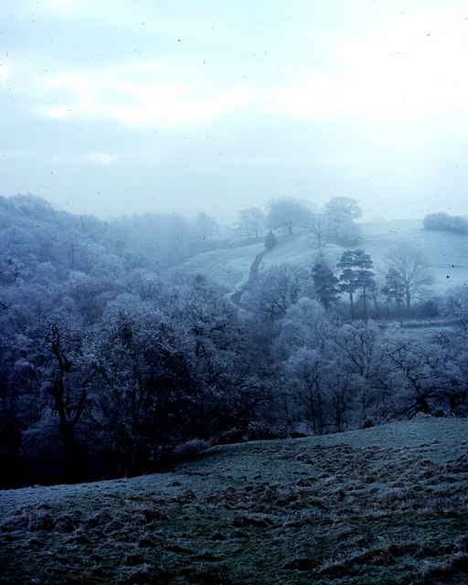 Road to Barleighford Farm taken winter 1976