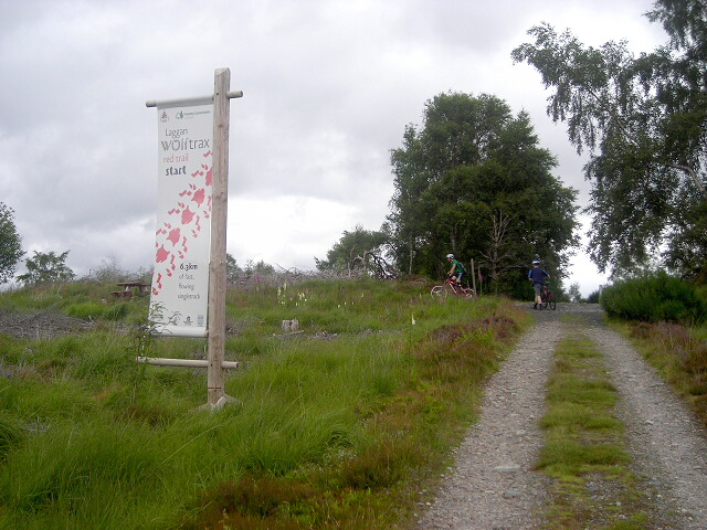 Start of Laggan Wolftrax Red Cycle Trail