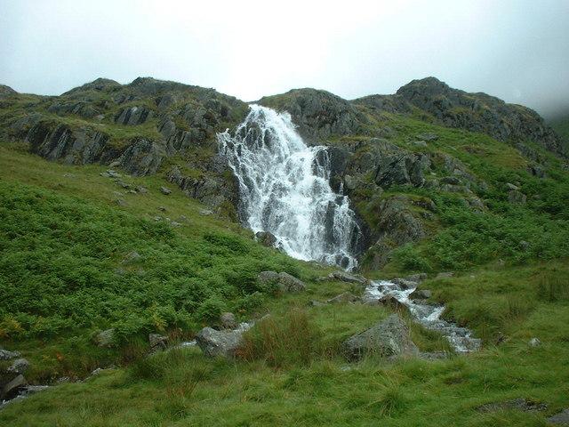 Waterfall near Grisedale Hause