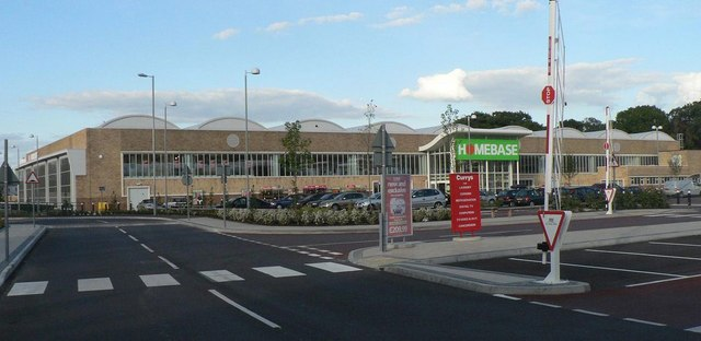 Strouden: old bus sheds = new retail park