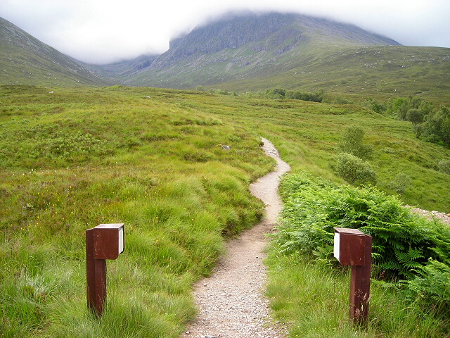 Path to Ben Nevis North Face