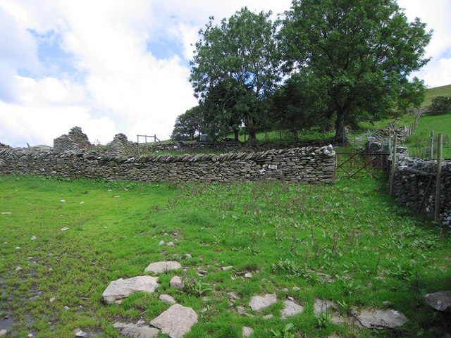 Sheepfold on Esgair Milwyn