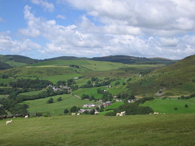 View of Cwmystwyth from Esgair Milwyn
