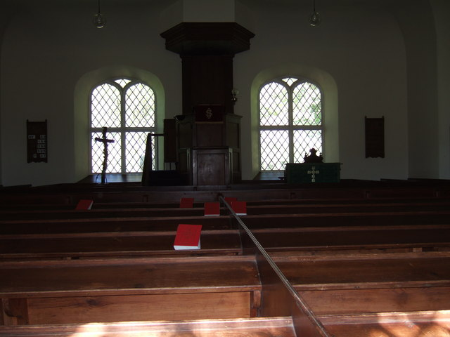 Inside Croick Church