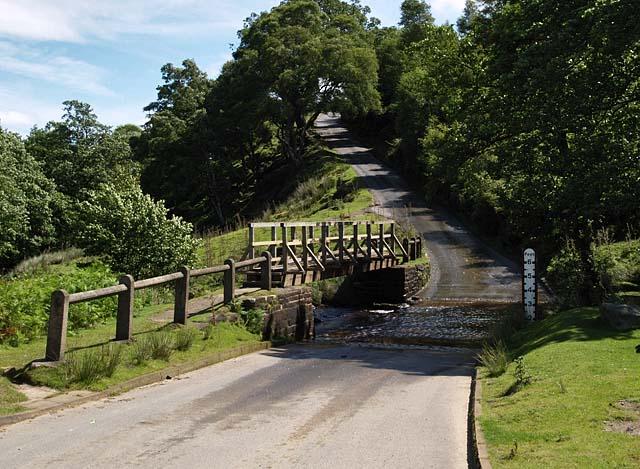 Ford and footbridge, Hob Hole