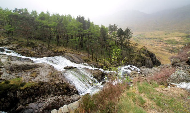 Ogwen waterfalls.