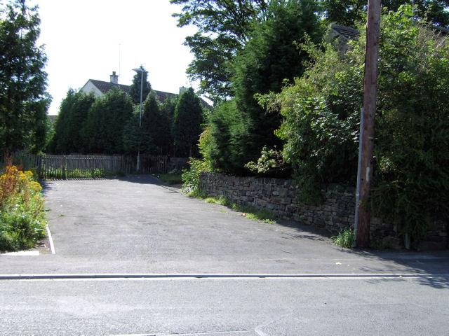 Former road off Oak Road, Bradley