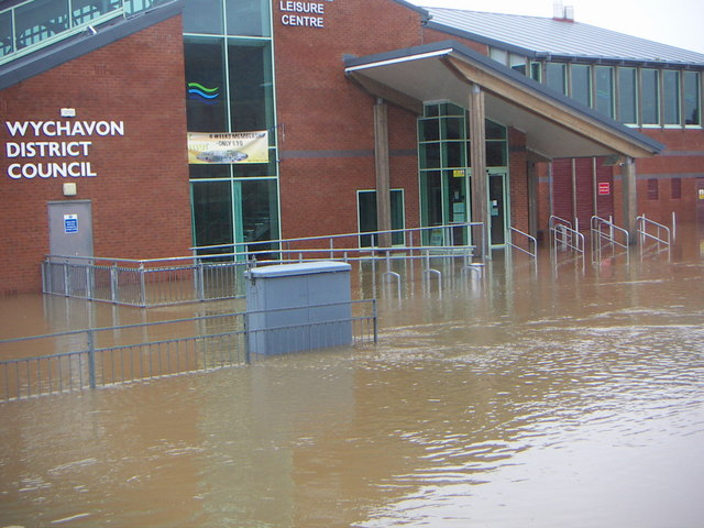 Pershore Leisure Centre flooded