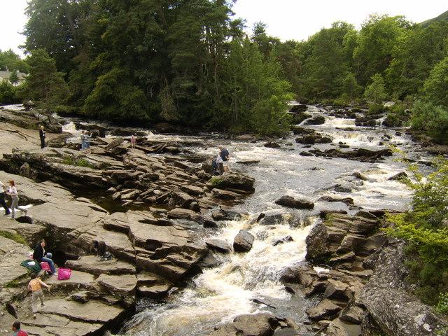 Falls of Dochart from Killin Bridge