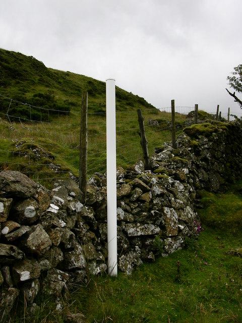 White post on Hillside