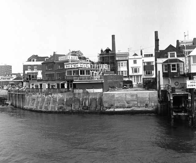 Waterside buildings, Portsmouth, Hampshire