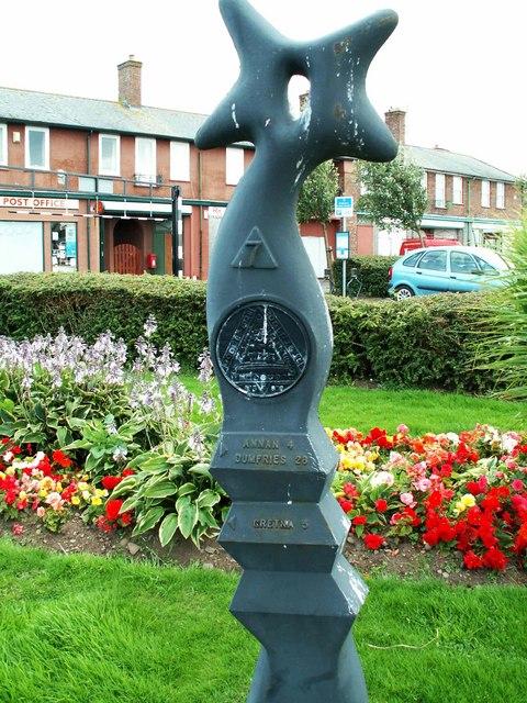 Millennium milepost at Eastriggs