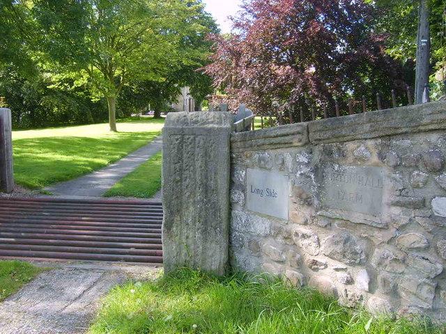 Burton Hall farm sign