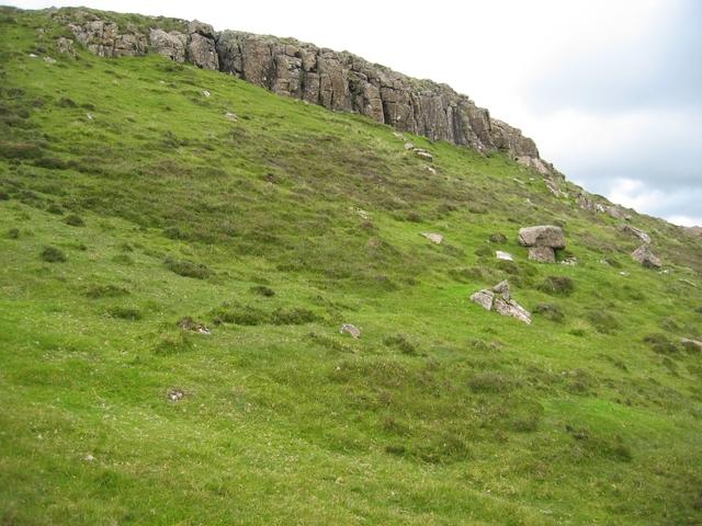 Crags near Beinn an Righ summit