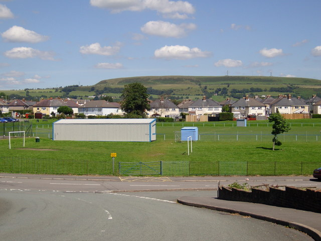 Tonteg Park viewed from Cedar Crescent