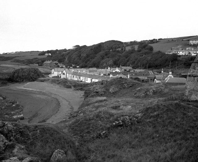 Dunure, beach and village, Ayrshire