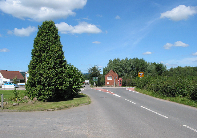 Junction on the A449 at Much Marcle