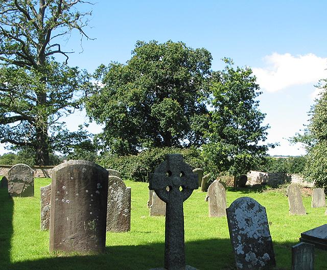 Older gravestones in St. Bartholomew's Churchyard