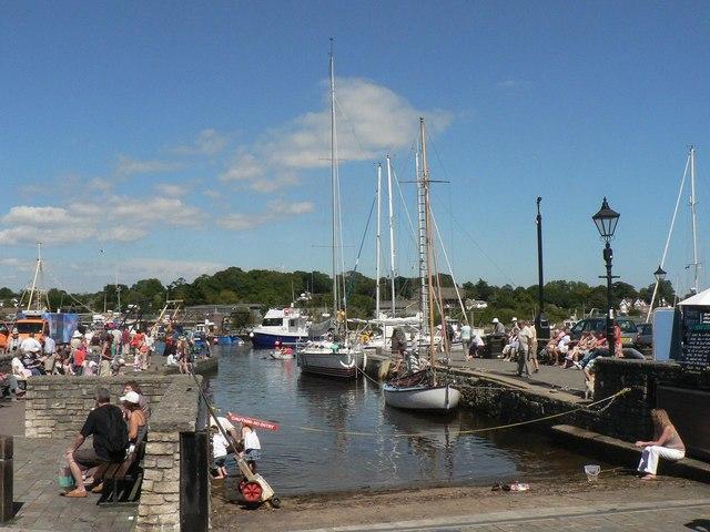 Lymington: quayside