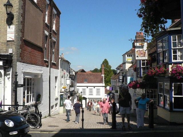 Lymington: down Quay Hill