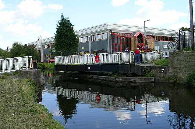 Swing Bridge on Leeds and Liverpool Canal at Shipley
