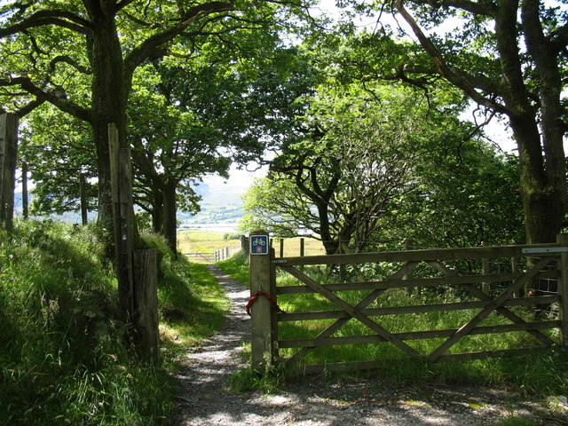 Access gate from the A470 to the No 8 National Cycle Route