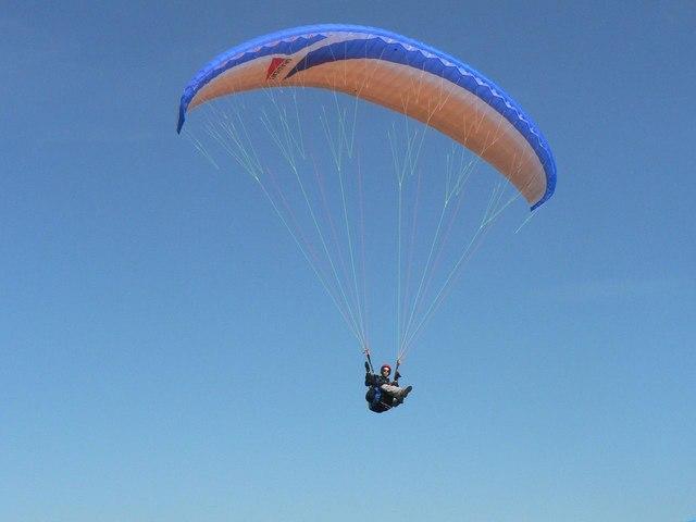 Paraglider close-up