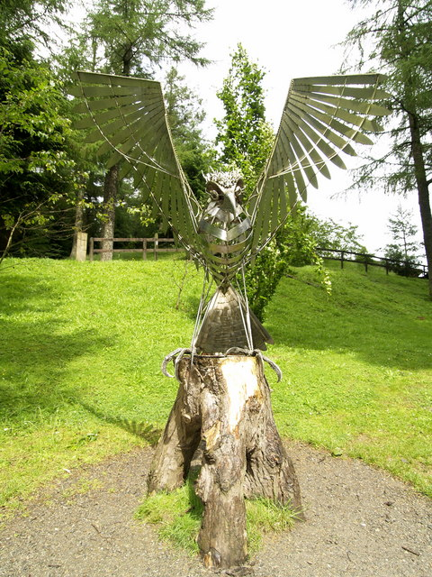 Stainless Steel Eagle at Whinlatter Visitor Centre