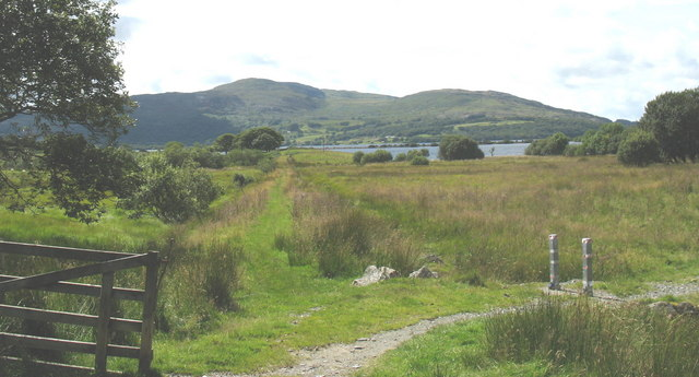 Junction of the bridleway and cycleway