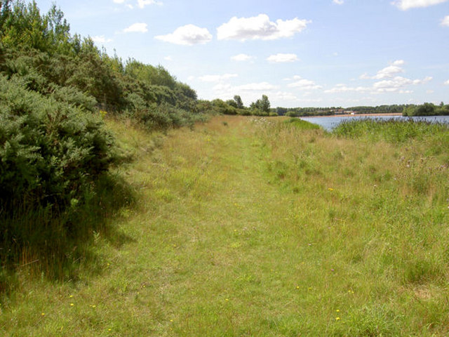 Footpath near Sutton lake.