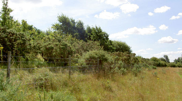 Fence and embankment.