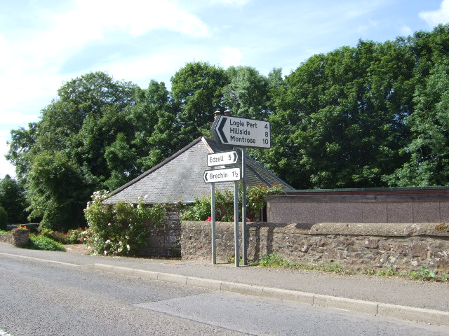 Road junction in Trinity