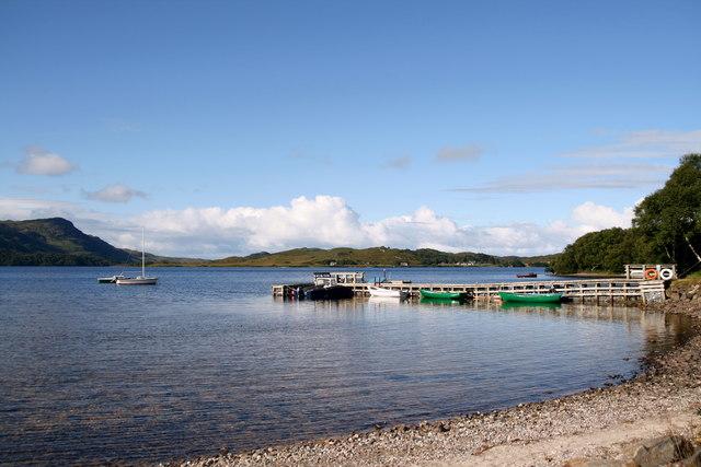 Jetty on Loch Morar