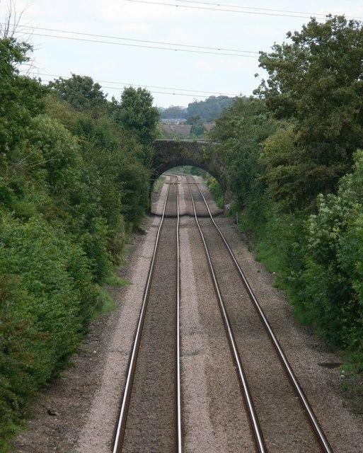 Railway north of Stoney Stanton