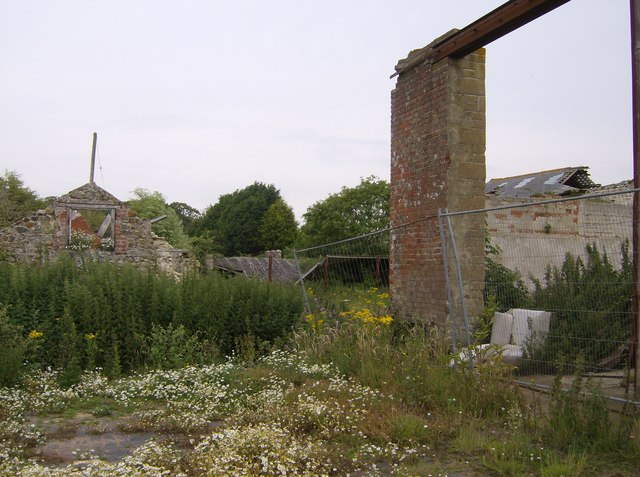 Derelict buildings at Kingston Manor