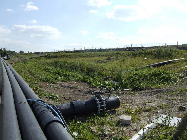 Edge of the Brogborough Landfill Site