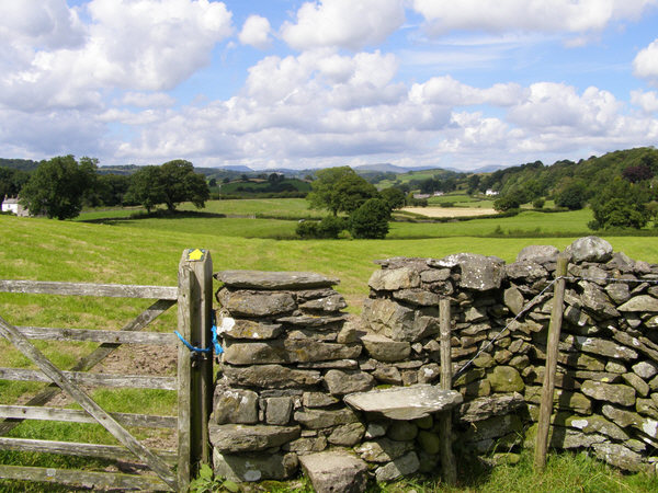 Stile on footpath to Tullythwaite House