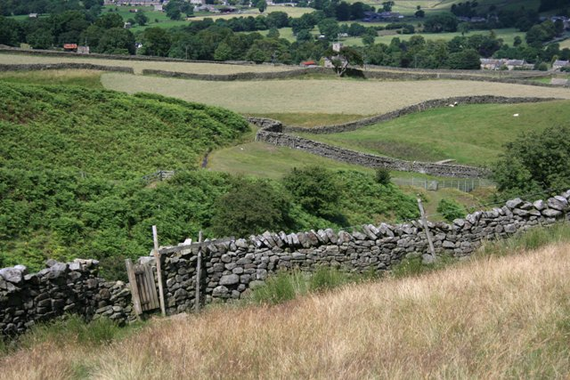 Line of Public Footpath Crossing Cogden Gill