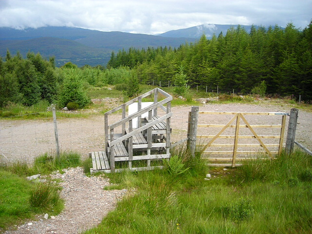 Stile on Path to Ben Nevis North Face