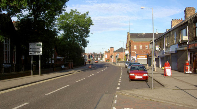 Early morning Goldthorpe high street.