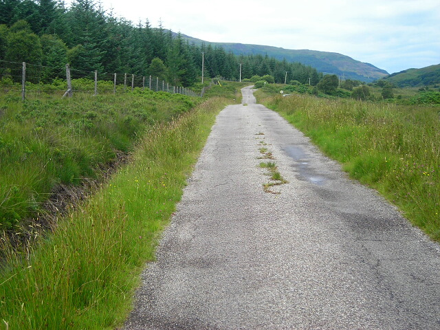 Minor Road to South of Loch Arienas