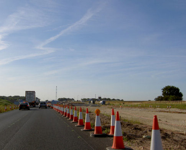 Roadworks on A1M.